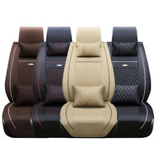 5 Seats 3d Car Seat Cover Leather Front Rear Cushion Full Set Pad Mat Universal Fits Volvo
