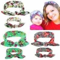 2pc/set Rabbit Ear Hair Band Mom Baby Headbands Headdress Hat Accessories New