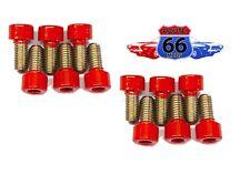 (12) M8-1.25x16 Stainless Steel Socket Head Allen Screws Powder Coated Red