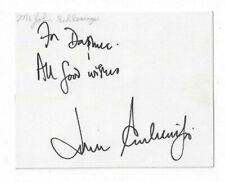 John Schlesinger Signed Index Card / Autographed Director