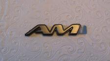 "New OEM Gray Pontiac Grand ""AM"" Nameplate Emblem Badge 15143208"