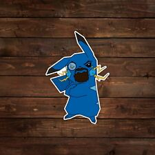 Bearded Blue Pikachu with Monocle (Pokemon) Decal/Sticker