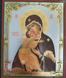 Russian Icon Mother of God THEOTOKOS Holy Virgin Mary - Our Lady of Vladimir