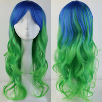 Blonde Wig Cosplay Wigs Long Hair Curly Wave Straight Heat Resistant Synthetic
