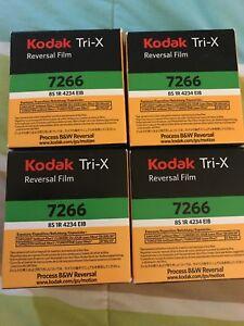 Kodak Tri-X Reversal Film Cartridge 7266 (4) 15m (50ft) super 8 cartridge.