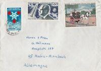 Brief mit Inhalt 5 Seiten DIN A5 handgeschrieben aus Carrieres nach Mainz