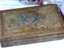 Genuine Vintage Italian Florentine Gold Gilt Wood Box  - French Shabby Chic
