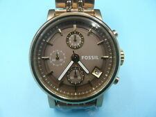 New Old Stock FOSSIL ES3694 Boyfriend 38mm Chronograph Date Quartz Men Watch
