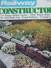 MODEL RAILWAY CONSTRUCTOR MAGAZINE JUL 1976 O GAUGE GARDEN LAYOUT GWR WAGON BRAK