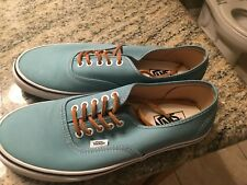 NEW MENS AUTHENTIC VANS SHOES BRUSHED TWILL BLUE 9.5 SKATER SKATE CANVAS