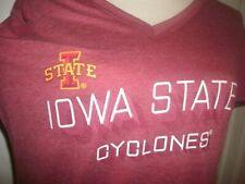 Champion Womens Iowa State Cyclones V-neck Shirt Large Ncaa New (B73)