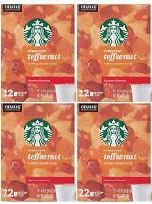 Starbucks Toffeenut Medium Roast Coffee K Cups for Keurig 88 Count Best By 1/21