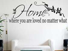 Home Where You Are Loved No Matter What Wall Sticker Wall Quote Art Decal c25