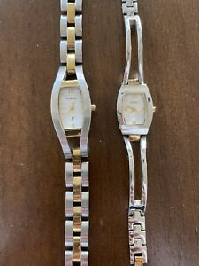"""2 Vintage Fossil Watchs Women's """"Need batteries"""""""