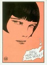 Guido Crepax Postcard: Louise Brooks 'Dieu merci...' (France, 1985)