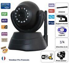 Camera Sans Fil Wireless WiFi IP IR Nightvision Dual Audio Webcam Design Noir