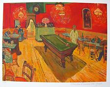 "VINCENT VAN GOGH ""NIGHT CAFE BILLIARD ROOM"" Estate Signed Limited Edition Giclee"