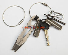 5x Aircraft Wire Cable Mechanics Keyrings Tactical EDC EOD Surefire Gear Lanyard