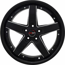 4 GWG Wheels 18 inch Black Mill DRIFT Rims fits NISSAN 350Z 2002 - 2008