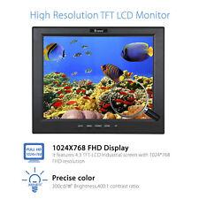 "Eyoyo 12 ""LCD Display Monitor VGA BNC Audio HDMI 1024 * 768 DC12V Für CCTV CCD"