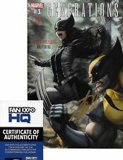 Generations Wolverine #1 ART GERM VARIANT signed Stan Lee NM- COA INCLUDED