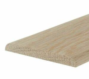 Solid Oak Flat Threshold Strip Bead 7mm Two Round Edges