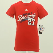 Los Angeles Angels Youth Girls Size Mike Trout Adidas official MLB T-shirt New