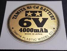 Tamiya Round Battery Decal - Ni-CD - 6V-4000mAh