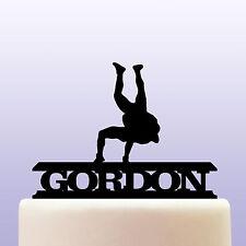 Personalised Acrylic Wrestling Birthday Cake Topper Decoration & Keepsake Gift