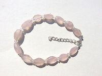 Rosenquarz facettiert Armband 20-23,5 cm 925 Silber Rose Quartz Bracelet 3491