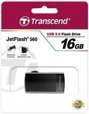 Transcend Jetflash 560 16GB 16 GB TS16GJF560 NEU USB 2.0, schwarz/silber