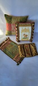 4PC SWEET DREAMS LUXURY COUTURE PILLOW~COVERS FLORAL~BUTTERFLY~DOG NEIMAN MARCUS