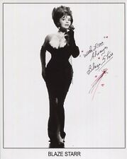 Blaze Starr Hand Signed 8x10 Photo+Coa Sexy Pose In Tight Black Dress