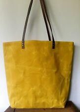 Waxed Cotton Canvas Tote Hand Bag_Handmade