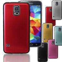 New Brushed Aluminium Stylish Hard Back Case Cover for Samsung Galaxy Mobiles