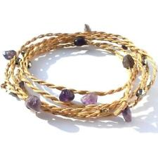 SLIM RUBY PINK STRAW MIX WEAVE BANGLE FOR A LIGHTWEIGHT POP OF RICH COLOUR ZX40