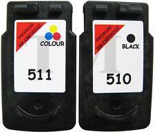 PG-510 Black & CL-511 Colour Remanufactured Ink Cartridges For Canon Pixma MX320