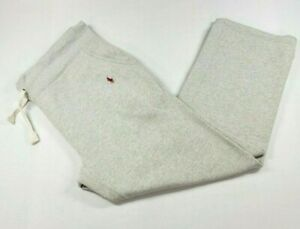 Vtg Polo Ralph Lauren Mens Drawstring Grey XL Sweatpants Red Pony Elon