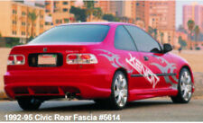 92-95 Honda Civic 2/4dr Xenon URETHANE Rear Bumper - Free Shipping - In Stock