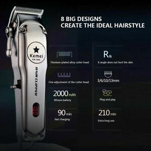 Kemei KM-1996 Metal Electric Hair Clipper Professional & Home Hair Trimmer Tool