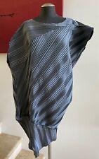 NWOT ISSEY MIYAKE Dark Gray Asymmetrical Pleated Dress, Size 2/Small
