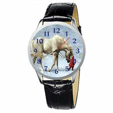 Horse And Little Girl Stainless Wristwatch Wrist Watch