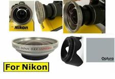 x40 HD WIDE ANGLE LENS + LENS HOOD FOR NIKON D3000 D3100 D3000 D3300 D5000 D90