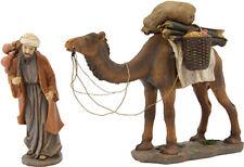 Krippen Johannes Krippenfiguren Kamel mit Treiber 2teilig für Größe ca.9cm