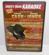 Singers Dream Karaoke: Sing the Hits of Johnny Cash & George Jones (DVD, 2011)