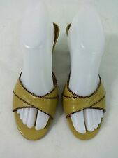 CHINESE LAUNDRY WOMENS TAN FAUX LEATHER SLIDES SHOES SIZE US 8.5 M