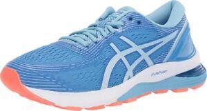 ASICS Women's Gel-Nimbus 21 Running Shoes, Blue Coast/Skylight, 7 D(W) US