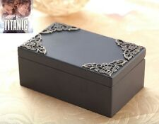 Black Vintage Rectangle Music Box : My Heart Will Go On