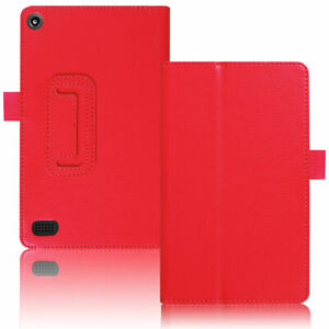 For Amazon Fire HD 10 8 7 9th 8th 7th Gen Leather Smart Stand Tablet Case Cover