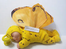 """Anne Geddes Sleeping Baby Butterfly Yellow 9""""L"""
